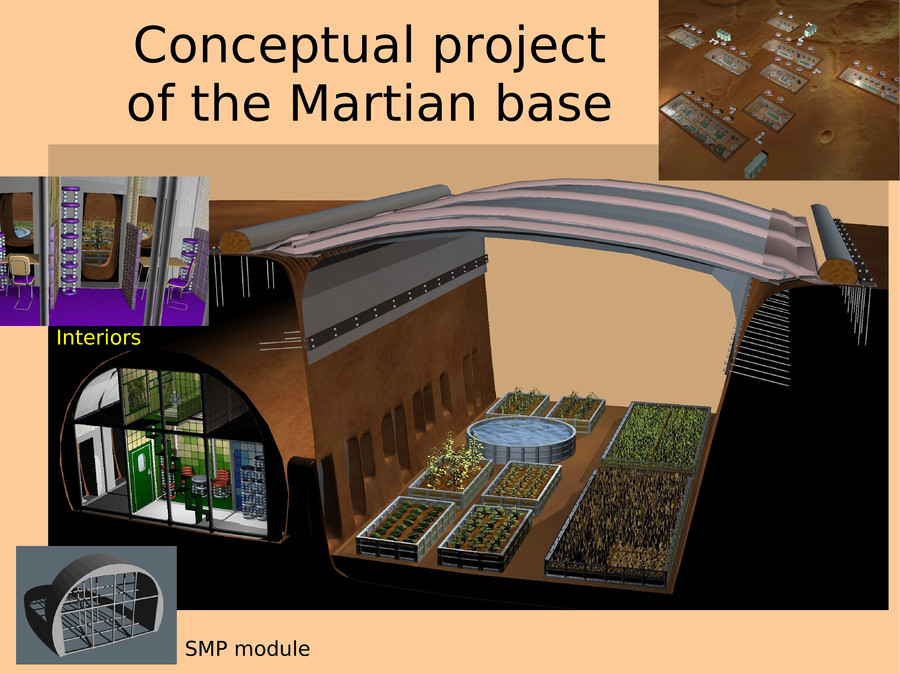 Mars Base Living Concepts - Pics about space